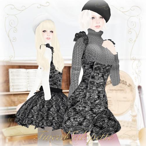 KC No.62[TweedSalopette](Black)