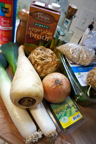 ingredients for winter soup!