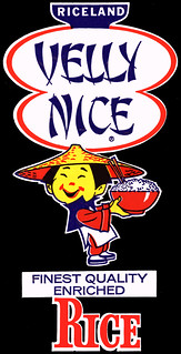 Riceland - Velly Nice Rice logo isolated and cleaned-up - late 1960's early 1970's