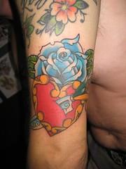 Broken Heart Rose Tattoo