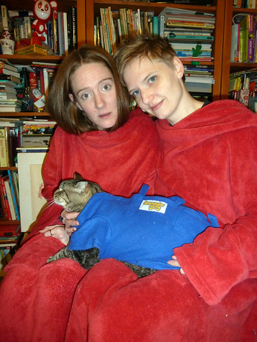 Ericas in (Off-brand) Snuggies