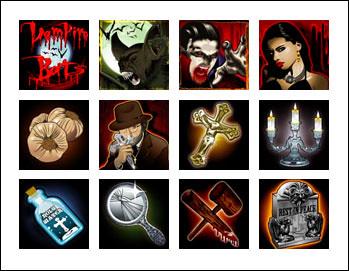 free Vampire Bats slot game symbols