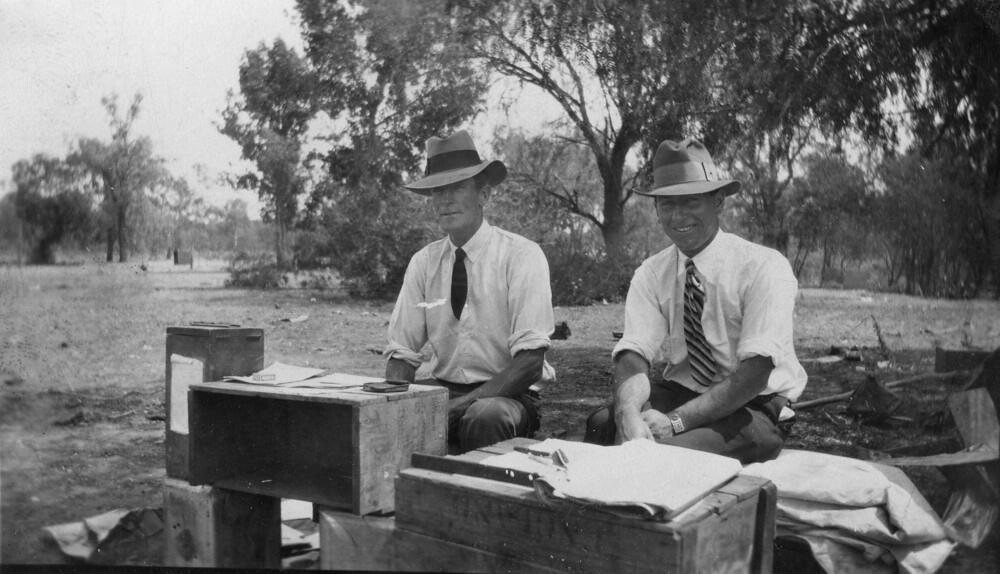Bush polling booth, ca. 1950