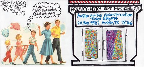 My Flipside Ticket Request Envelope Art