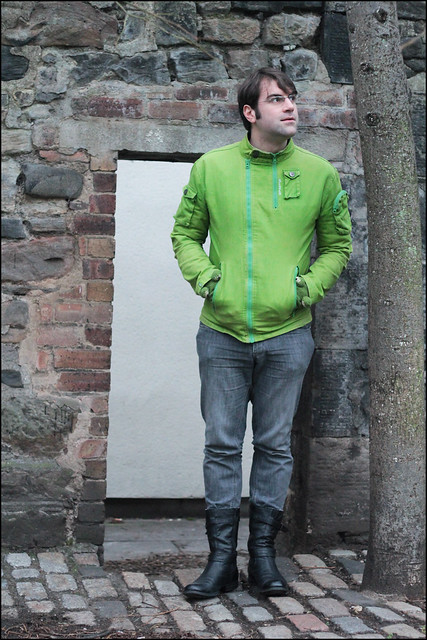 dave's green coat