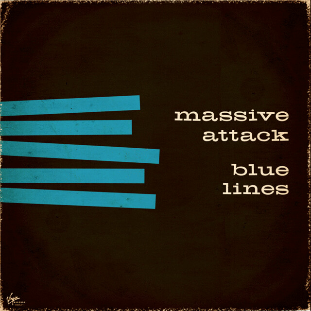Massive Attack - Blue Lines redesign