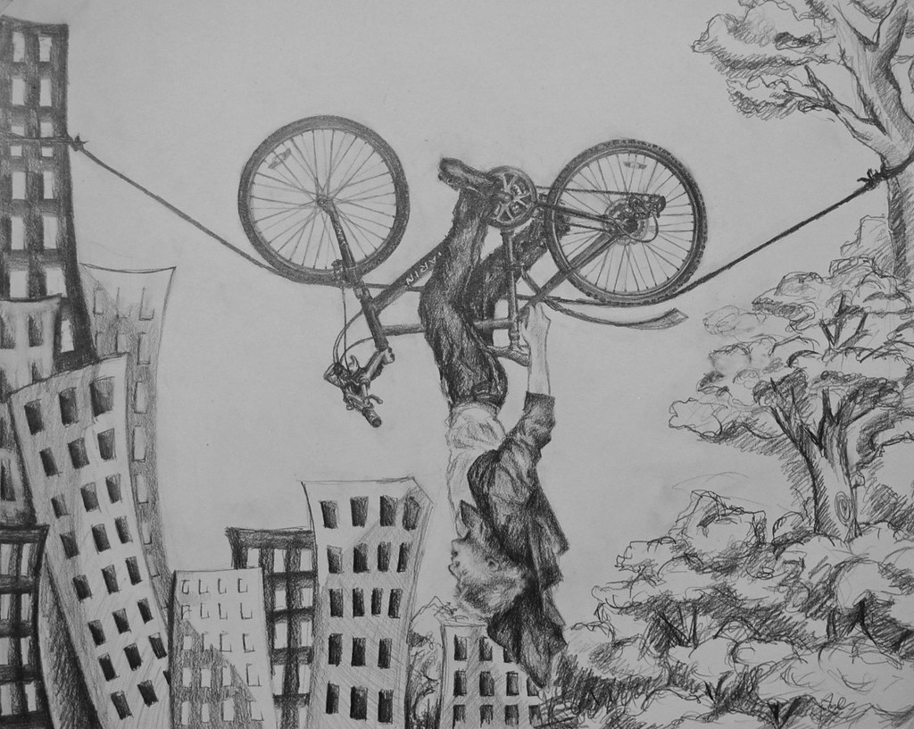 Risd Bicycle Drawing 2012 Pencil Anh Pham Flickr