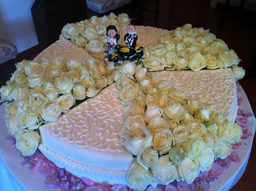 Gli sposini sulla torta nuziale