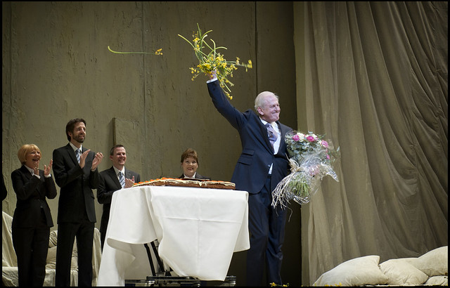 Sir Thomas Allen at the curtain call for Cosi fan tutte © Sim Canetty-Clarke/ROH 2012