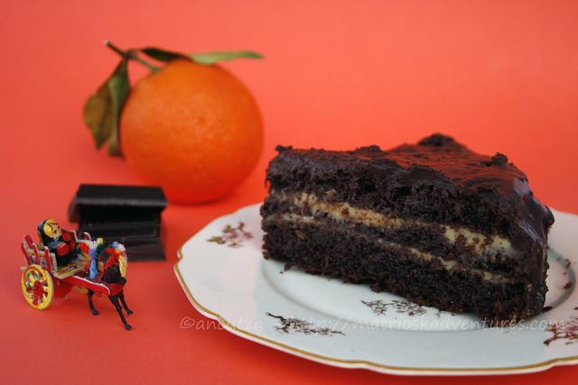 foto torta al cioccolato e crema arance