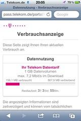 Verbrauchsanzeige T-Mobile