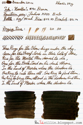 Noodler's #41 Brown on Rhodia