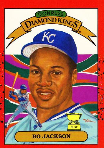 Baseball Card Bust Bo Jackson 1990 Donruss Diamond Kings