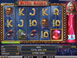 Mythic Maiden bonus game