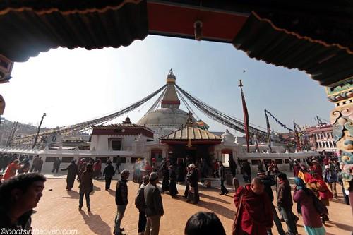 Stupa with pilgrims