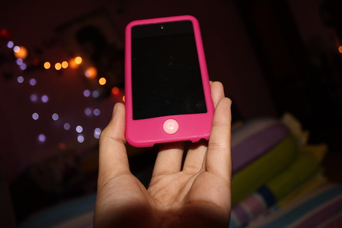 my pink ipod case :)