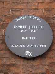 Photo of Mainie Jellett brown plaque