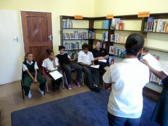 GCU Academy - After school tutoring :: The Backpack Cape Town posted a photo: 	   The GCU Academy offers after school tutoring to its members to assist with homework and reading.  The tutoring takes place in the library at Woodlands Primary school in Heideveld.   Pictures taken Feb 2012