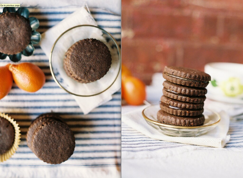 Chocolate and Bergamot Sandwich Cookies