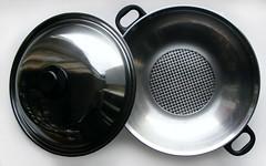 Roestvrijstalen wok/wadjan van fissler