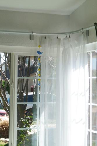 Ikea KVARTAL corner curtain rail