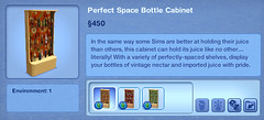 Perfect Space Bottle Cabinet