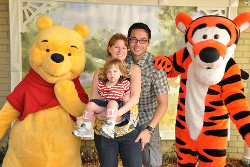 Family with Pooh and Tigger