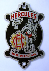 Unused Hercules headbadge (alloy)