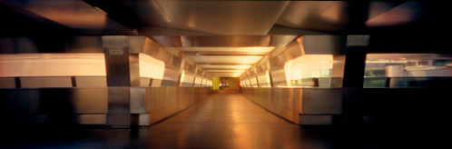 light sunset orange reflection film metal 35mm hongkong pinhole channel flyover