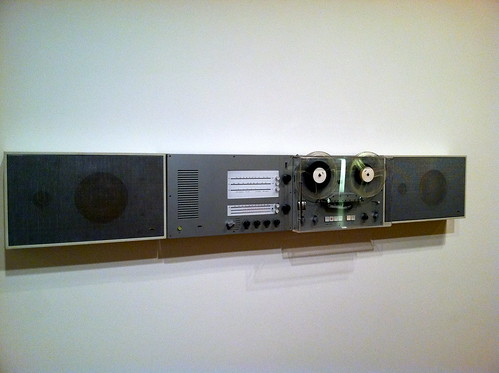 vintage stereo on the wall - Braun Product Less and More