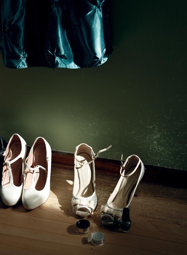 glitter vintage dress shoes