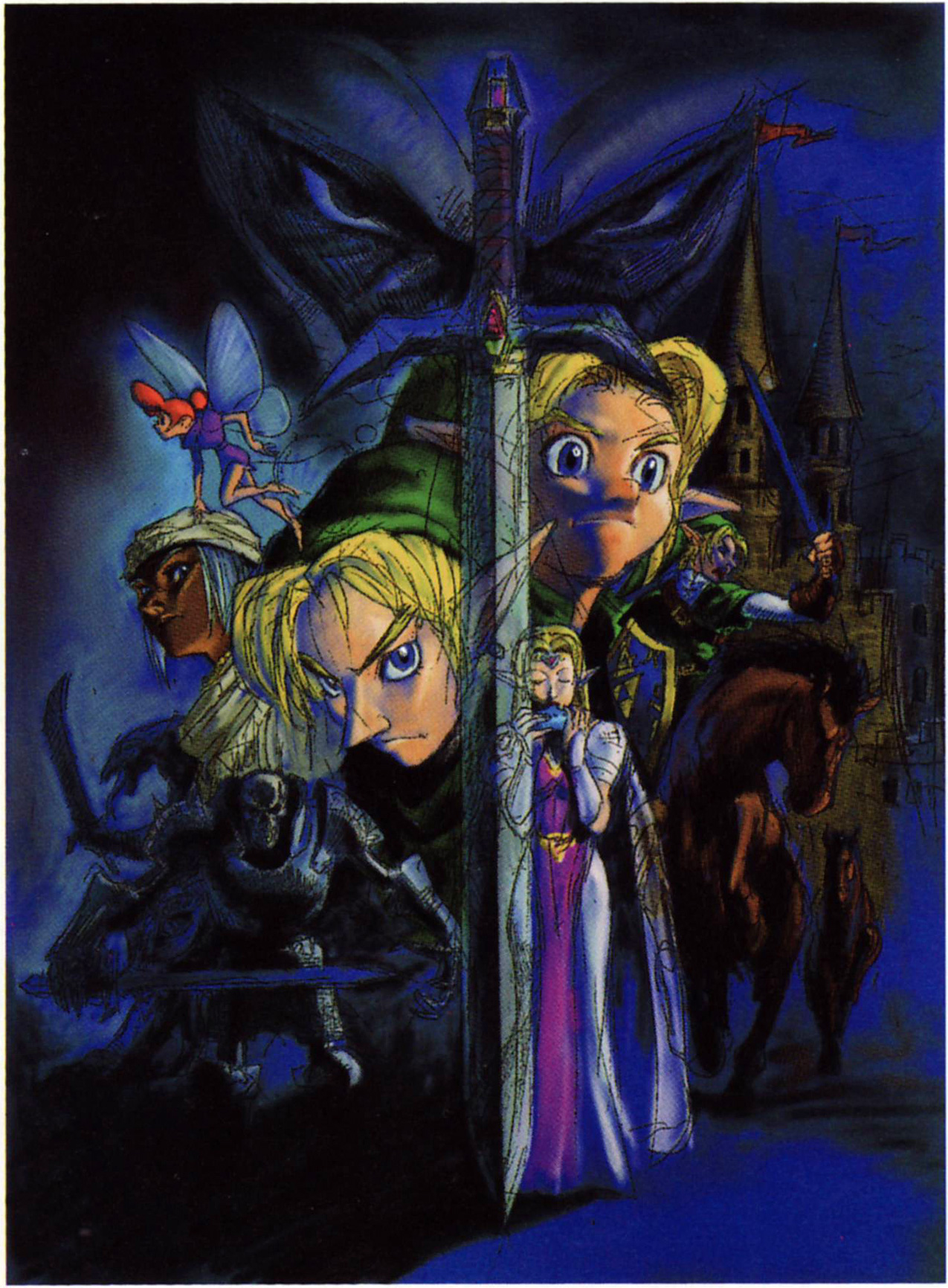 Interesting Oot Concept Art Of Sheik And A Fairy From Hyrule