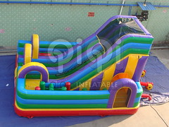Obstacle course inflatable playground combo-04