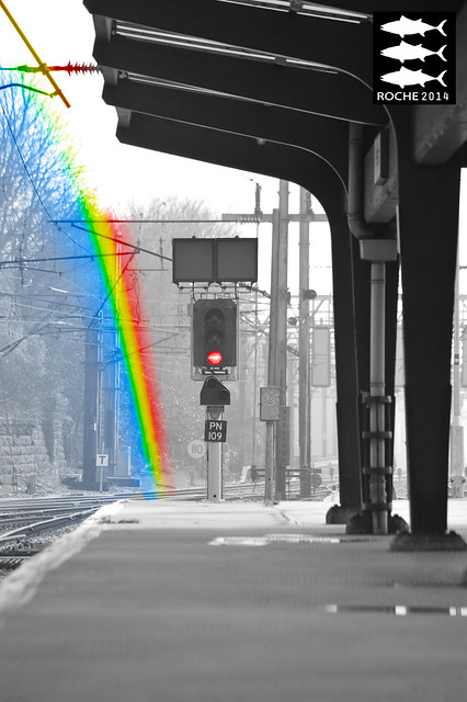 Preston Signal Rainbow Effect 29.03.2014
