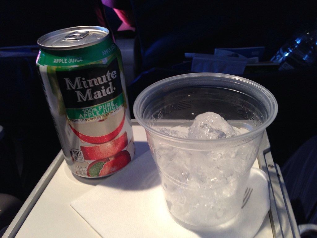 Apple juice inflight beverage