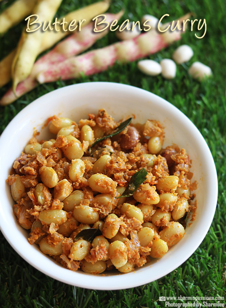 Butter Beans Masala Recipe