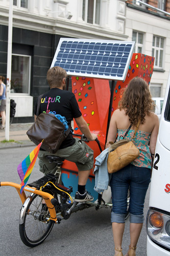 Solar Powered Stereo Bike