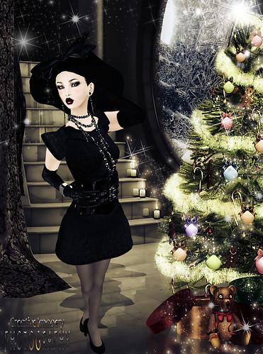 "Vintage ""Little Black Dress"" by ðஜClix Renfew ஜð"