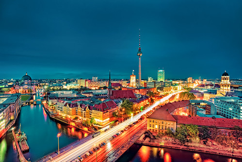 Berlin City Night Colors