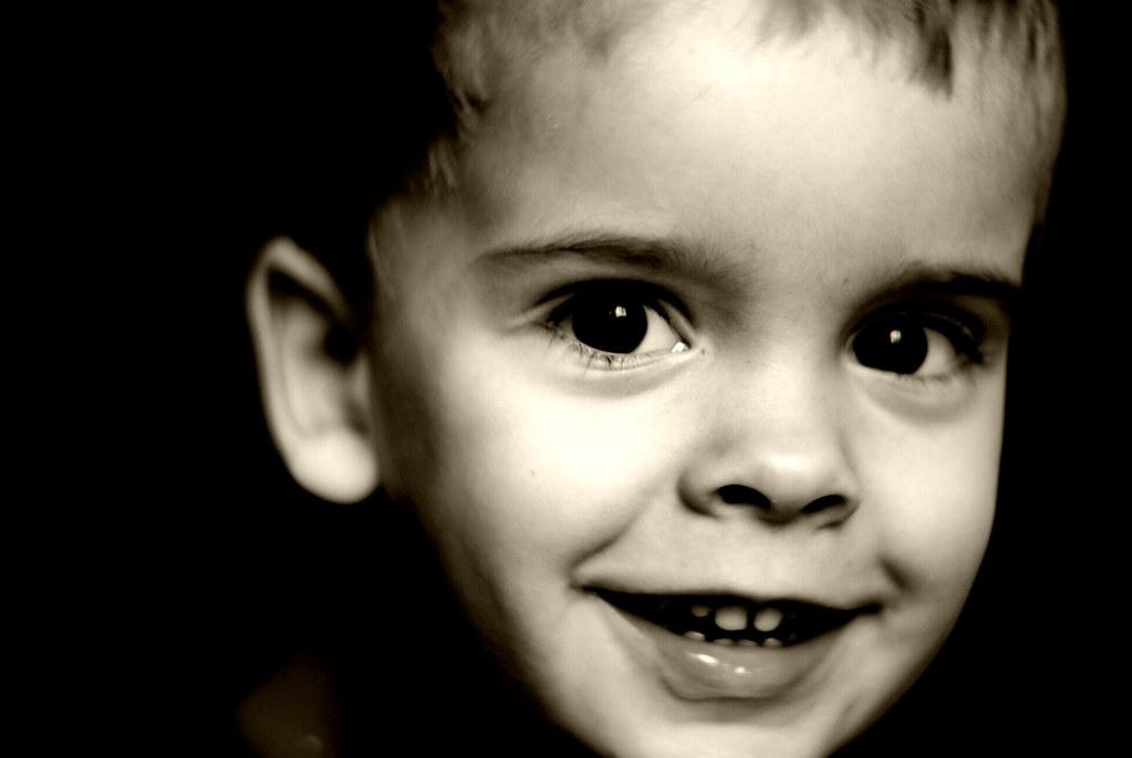 Young Boy Portrait Black & White