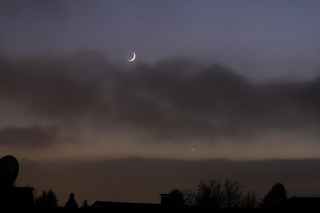 Mond und Venus, 27.Nov.2011, 16h57 MEZ, Wien