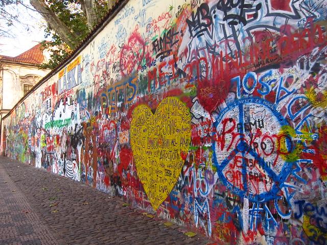 changing graffiti john lennon wall prague a gallery on