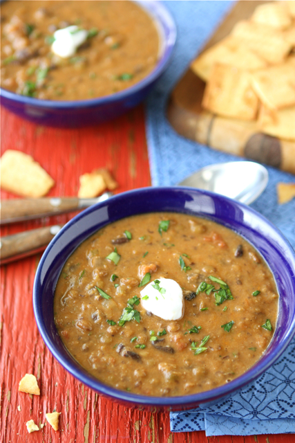 Hearty Lentil & Black Bean Soup with Smoked Paprika Recipe ...