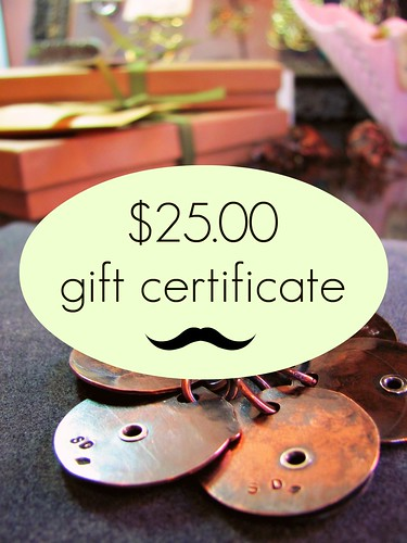 gift certificate $25 by Stephanie Distler