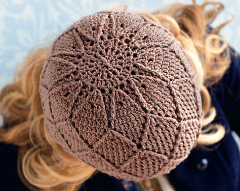 Lindamade Simply Crochet Diamonds And Lace Hat