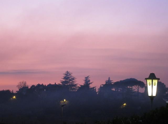 Sunset over Borghesiana