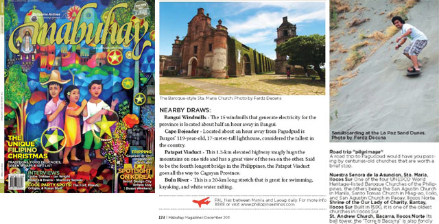 Mabuhay Dec 2011 Cover and other photos featured