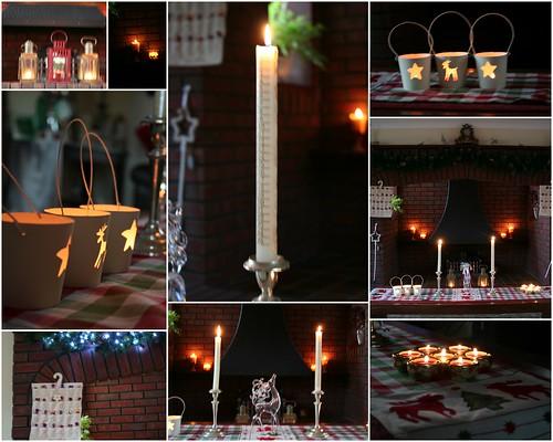 Festive candlelight