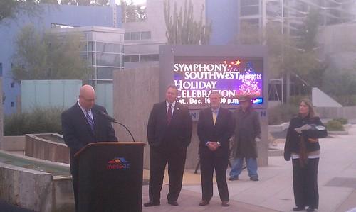 Mesa light rail sign ceremony