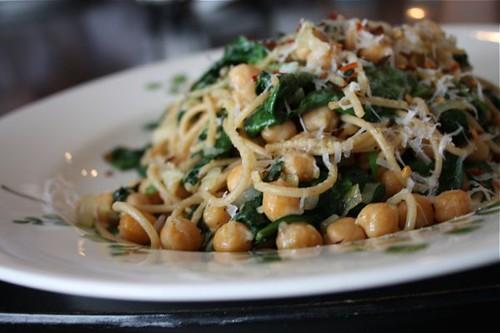 Spaghetti with Chickpeas Spinach - recipe - 3